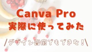 有料版Canva Proを実際に使ったレビュー・評判!